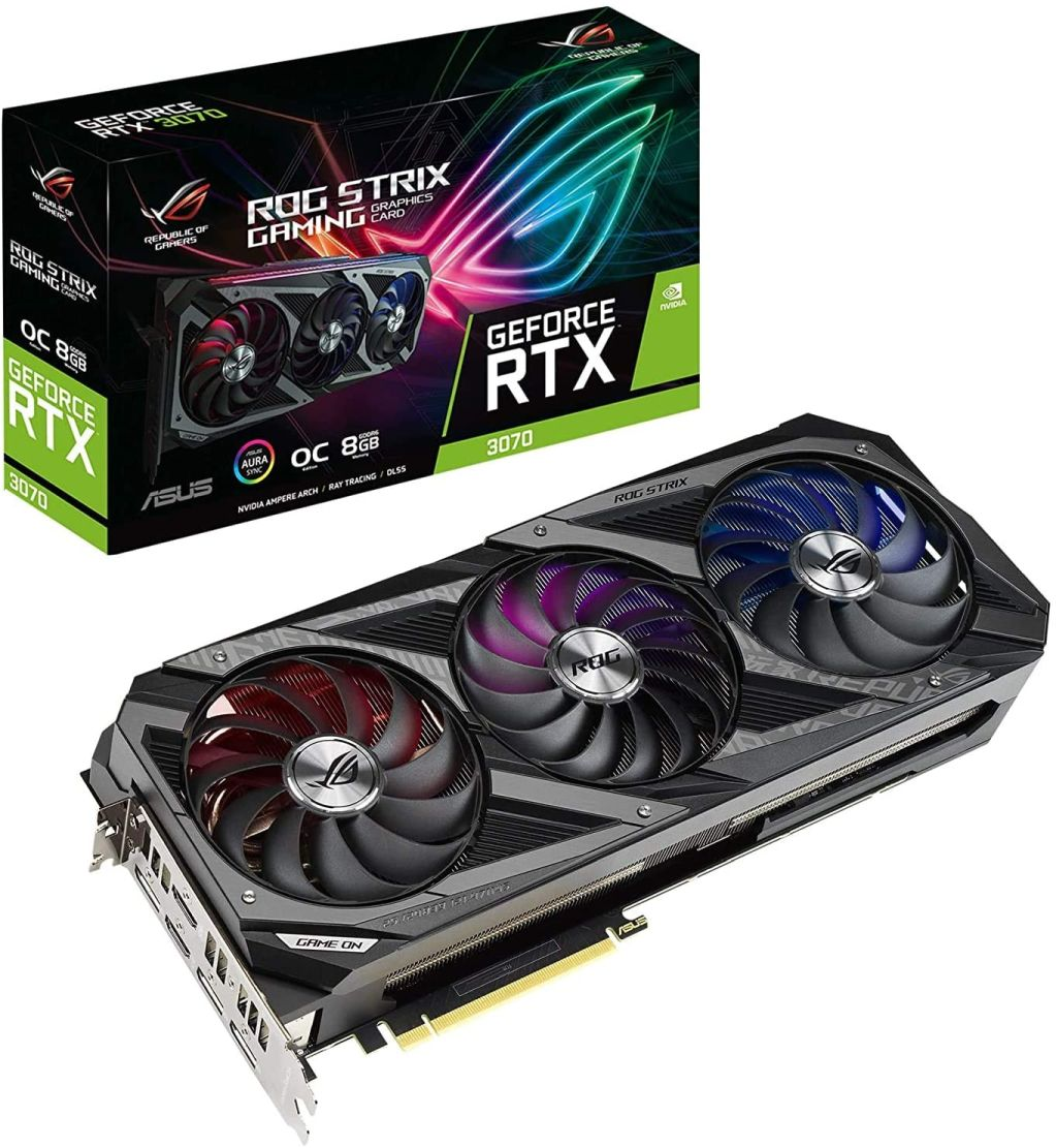 ASUS GeForce RTX™ 3070 ROG Strix Gaming OC 8GB GDDR6