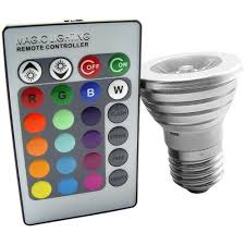 LED Light Bulb with 16 Colors Changing and Wireless Remote Control (3W, E27)